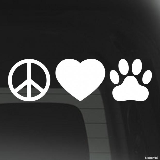 Наклейка Мир Любовь Собаки инфографика