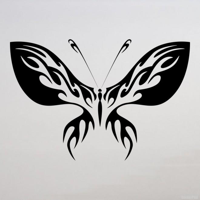 Наклейка Бабочка флеймз