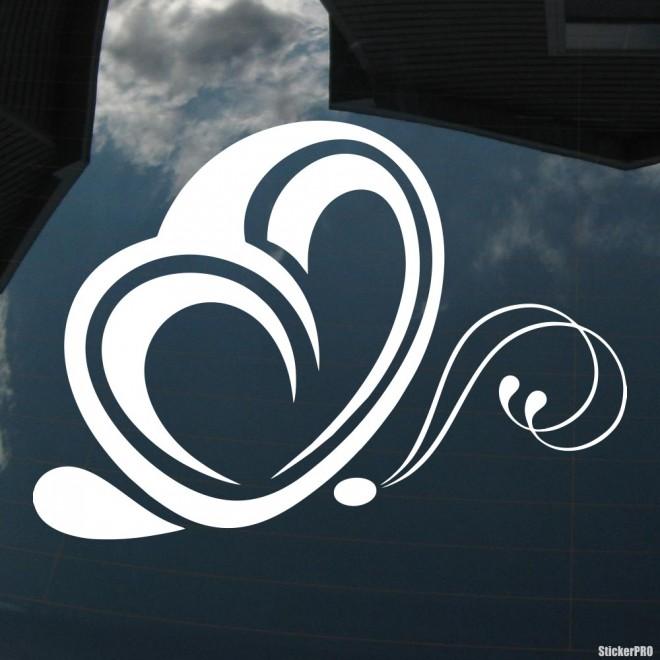 Наклейка Бабочка с крыльями-сердцами