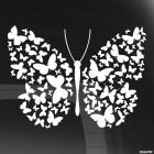 Наклейка Бабочка с крыльями из бабочек