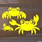 Наклейка семья крабов