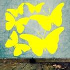 Наклейка 6 бабочек для оформления интерьера IV