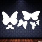 Наклейка 6 бабочек для оформления интерьера III