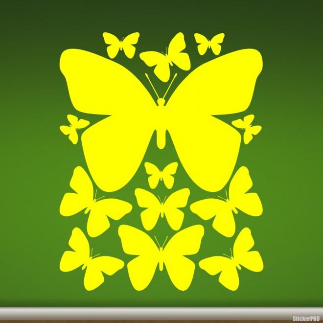Наклейка бабочки для оформления интерьера