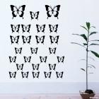 Наклейка 26 бабочек для оформления интерьера