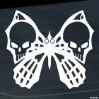 Наклейка Бабочка с костями и черепом на крыльях