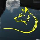 Наклейка волк орнамент