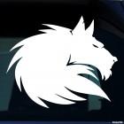 Наклейка волк тату орнамент