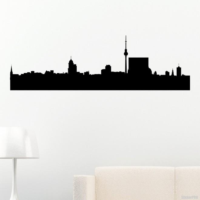 Наклейка Берлин городской горизонт