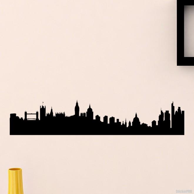 Наклейка Лондон городской горизонт