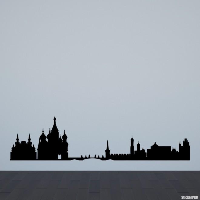 Наклейка Москва городской горизонт