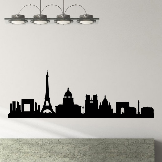Наклейка Париж городской горизонт