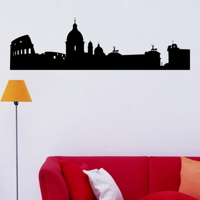 Наклейка Рим городской горизонт