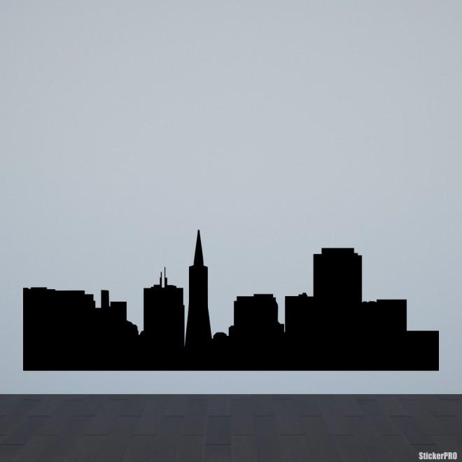 Наклейка Сан-Франциско городской горизонт