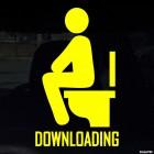 Наклейка downloading загрузка на унитазе