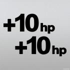 Наклейка +10hp дающая плюс десять лошадиных сил