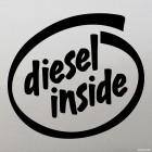 Наклейка Diesel Inside жаба на Intel