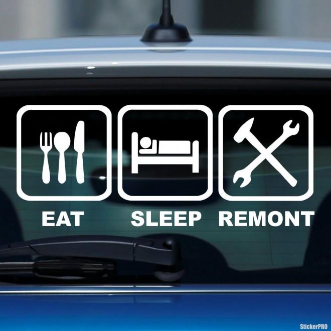 Наклейка Eat, Sleep, Remont жаба на JDM