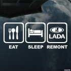Наклейка Eat, Sleep, Remont, LADA