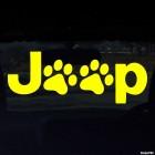 Наклейка Jeep следы собаки