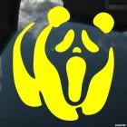 Наклейка Панда с лицом из фильма Крик