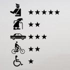 Наклейка Сколько на счету? Звезды за полицию, бабушек, машины, велосипедистов и инвалидов