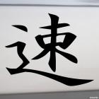 Наклейка Иероглиф Быстрый