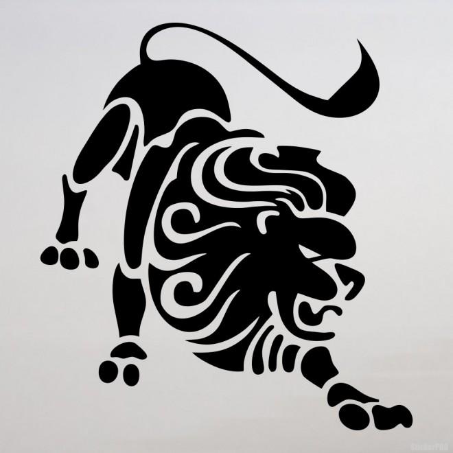 Наклейка Знак зодиака Лев (v.II)