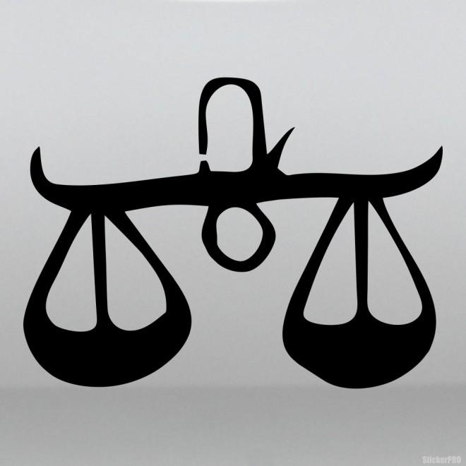 Наклейка Знак зодиака Весы (v.I)