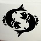 Наклейка Знак зодиака Рыбы (v.II)
