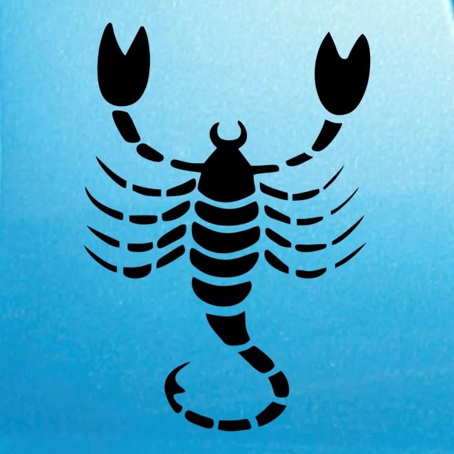 Наклейка Знак зодиака Скорпион (v.II)
