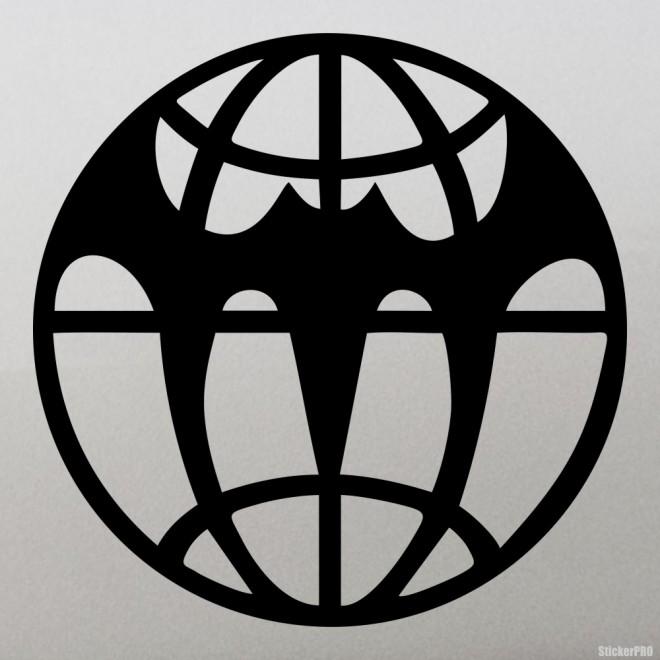 Наклейка Военная разведка Летучая мышь и мир