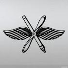 Наклейка ВВС Военно-воздушные силы Пропеллер и крылья
