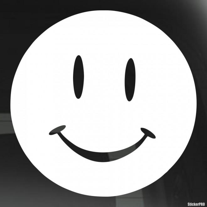 Наклейка смайлик колобок улыбается