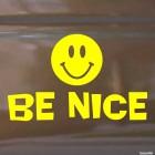 Наклейка смайлик колобок Be Nice
