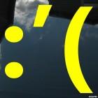 Наклейка плачущий расстроенный смайлик символами :'(