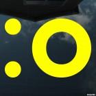 Наклейка вздыхающий смайлик символами :o