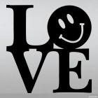 Наклейка смайлик колобок LOVE