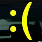 Наклейка расстроенный смайлик символами :(