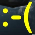 Наклейка расстроенный смайлик символами :-(