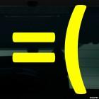 Наклейка расстроенный смайлик символами =(