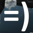 Наклейка довольный смайлик символами =)