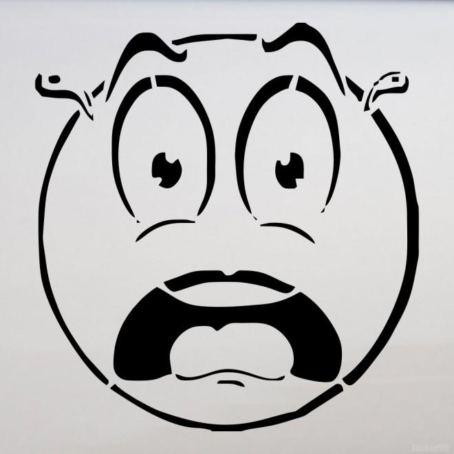 Наклейка испуганный смайлик
