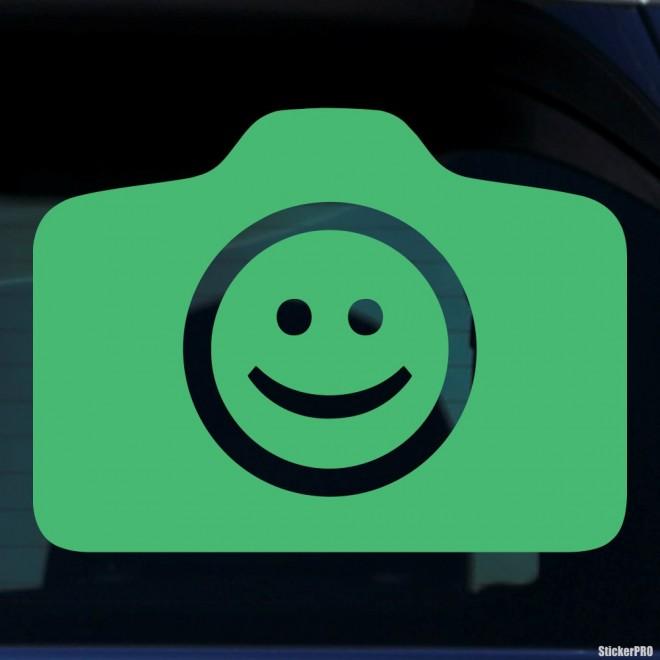 Наклейка смайлик фотографировать можно