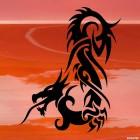 Наклейка Дракон 52