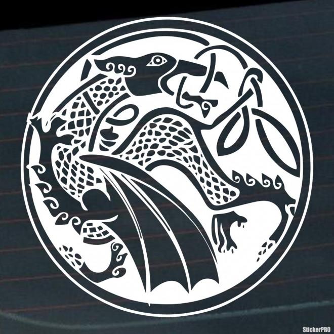 Наклейка Дракон 48