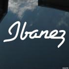 Наклейка Ibanez Японский производитель гитар