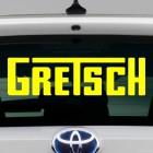 Наклейка Gretsch гитары, бас-гитраы и ударные инструменты лого