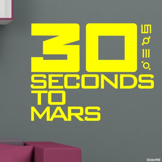 Наклейка 30 Seconds to Mars американская рок-группа лого
