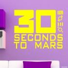 Наклейка 30 Seconds to Mars американская рок-группа